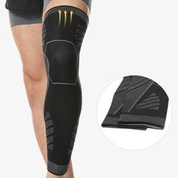 long compression knee brace basketball sport high