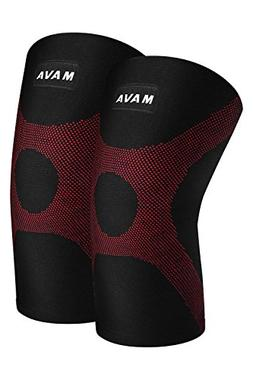 Mava OptimFlex Knee Support Compression Sleeves  for Running