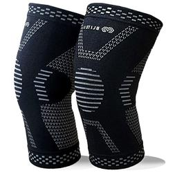 BLITZU MAX Compression Knee Sleeves for Joint Pain ACL MCL A