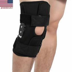 Medical Hinged Knee Brace Adjustable Open Patella Support fo
