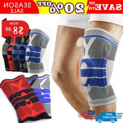 Men Knee Support Sleeve Outdoor Sports High Compression Sili