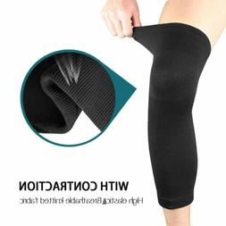 Men Women Long Knee Compression Brace Calf Support Sleeve fo