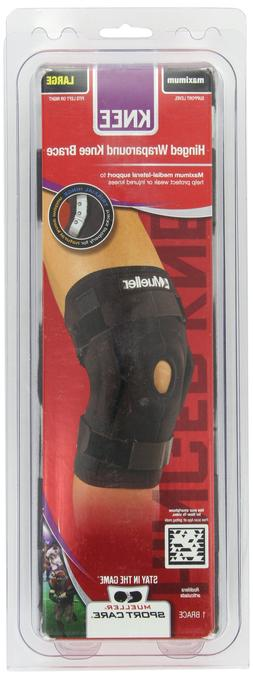 Mueller Sports Hinged Wraparound Knee Compression Support Br
