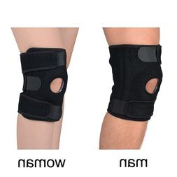 Neoprene Open Stabilizer with Adjustable Hinged Knee Support
