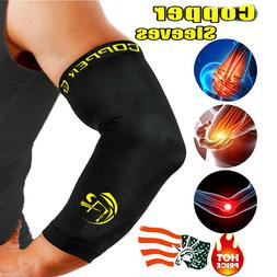 NEW Elbow Support Brace Copper CFR Compression Sleeve Joint