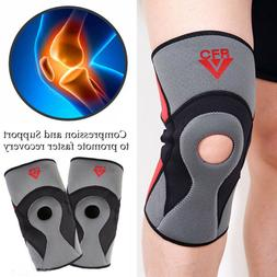 Open Patella Elastic Knee Brace Fastener Support Guard Sport