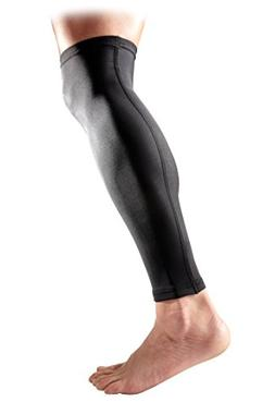 McDavid Pair Compression Calf Sleeves, Large, Black
