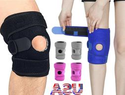 Patella Elastic Knee Brace Fastener Support Guard Gym Sports