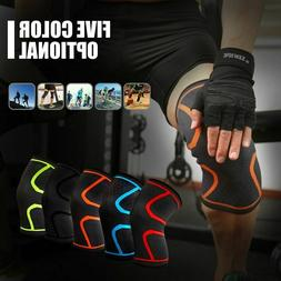 Plus Size Fitness Running Cycling Knee Support Braces Elasti