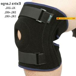 Nvorliy Plus Size Knee Brace 5Xl 6Xl Extra Large Open-Patell