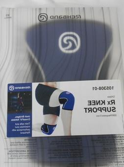 Rehband Rx Knee Support 105308-01 SBR/Neoprene 5 mm XS Blue
