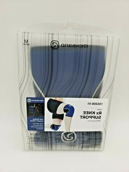 Rehband Rx Knee Support 5 mm Thick Neoprene Medium Navy New