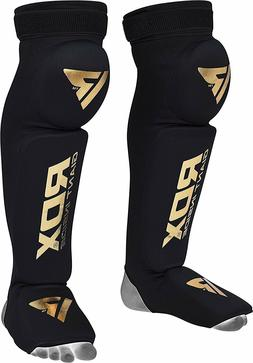 RDX Shin Guard Instep Foam Pad Boxing Knee Brace Support Leg