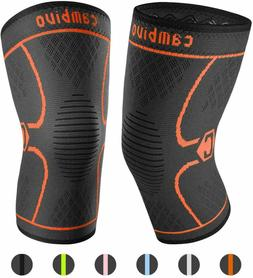 SIZE L CAMBIVO 2 Pack Knee Brace Compression Sleeve Support