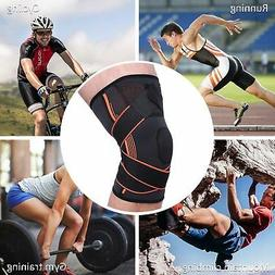 Sport Pressurization Knee Protect Pads Support 3D Weaving Br