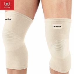 Mava Sports Knee Compression Support Sleeves Nude Size M NWT