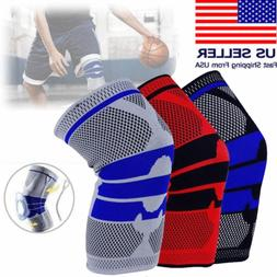 Sports Knee Support Pad High Compression Silicone Padded Kne