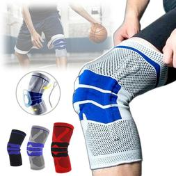 Sports Silicone Gel Knee Pads Support Brace Breathable High