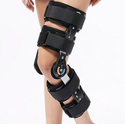 Universal Size Hinged ROM Knee Support Brace Orthosis for Kn