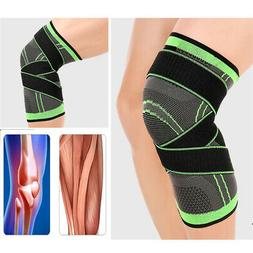 US 3D Weaving Knee Brace Protective Support Cycling Hiking S