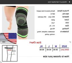 USA Weaving Knee Brace Pad Support Protect Compression Fit R