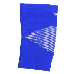 uxcell White Striped Blue Elastic Knee Sleeve Support Brace