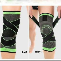 Workout Bodybuilding Knee Support Elastic Brace with Strap f