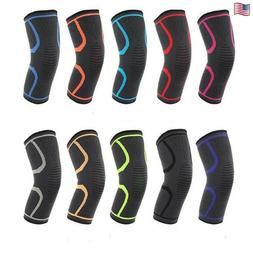 Workout Knee Sleeve New Compression Brace Support Biking For