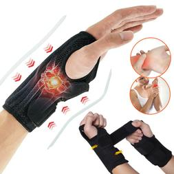 Wrist Band Support Brace Compression Hand Carpal Tunnel Stee