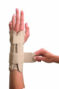 Mueller Wrist Stabilizer, Small/Medium, Beige, 1-Count Packa