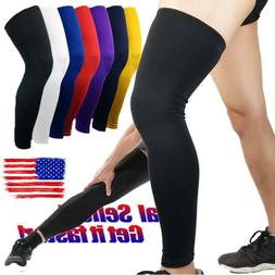 Youth Adults Compression Pad Knee Support Basketball Long Le